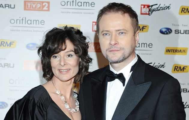 Artur Żmijewski z żoną Pauliną, fot. Andras Szilagyi  /MWMedia