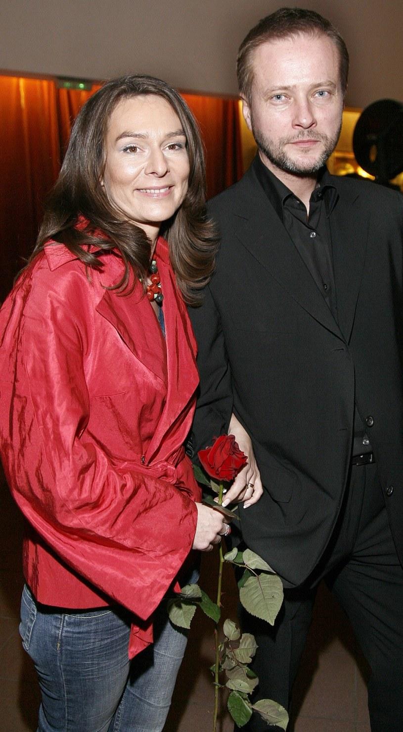 Artur Żmijewski z żoną Pauliną /Jacek Grąbczewski /AKPA