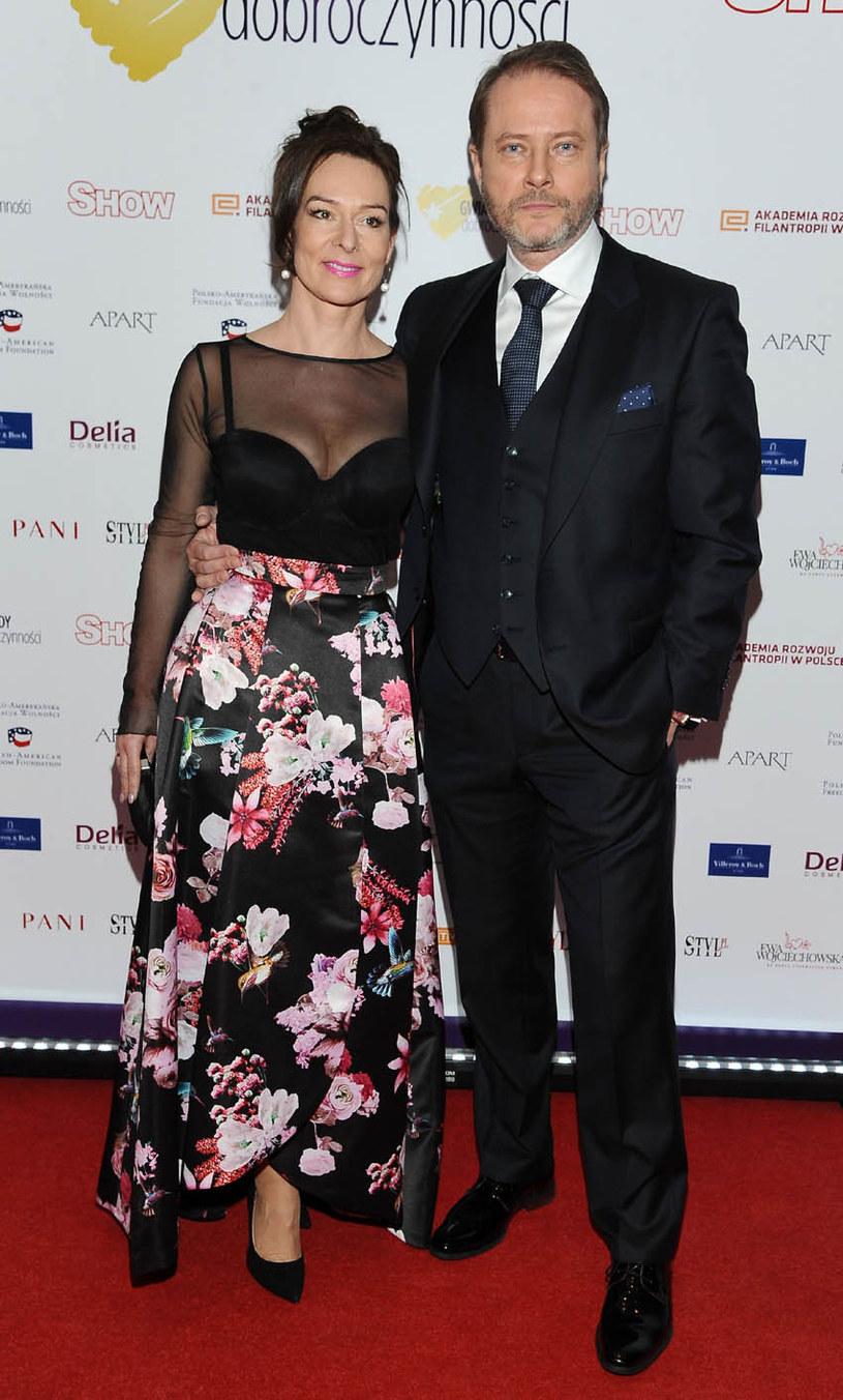 Artur Żmijewski z żoną /Agencja W. Impact