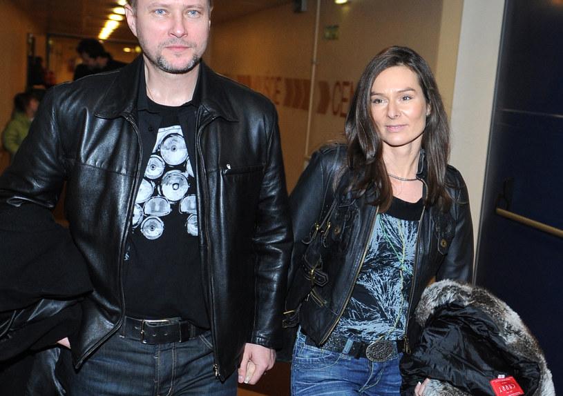 Artur Żmijewski z żoną /Andras Szilagyi /MWMedia
