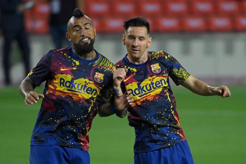 Arturo Vidal i Lionel Messi /AFP