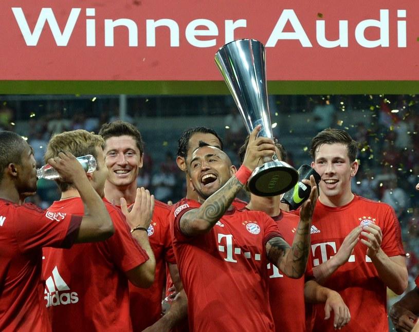 Arturo Vidal już święci triumfy w nowym klubie. Póki co Bayern z nim w składzie wygrał towarzyski Audi Cup /AFP