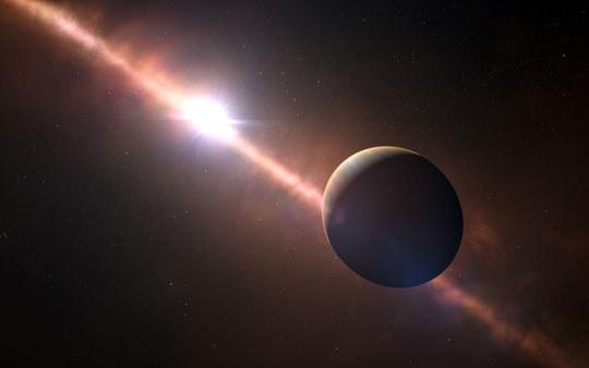 Artystyczna wizja planety Beta-Pictoris b /materiały prasowe