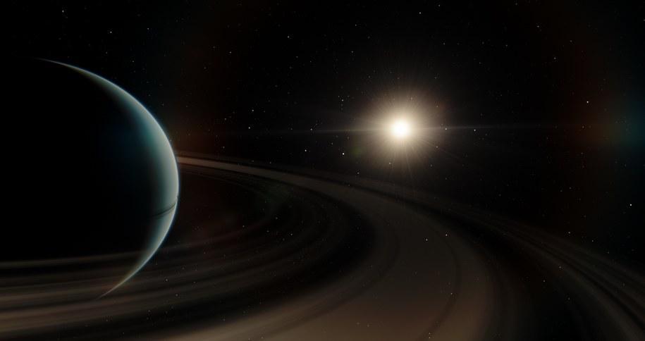 Artystyczna wizja planety pozasłonecznej BD+14 4559 b /Międzynarodowa Unia Astronomiczna /