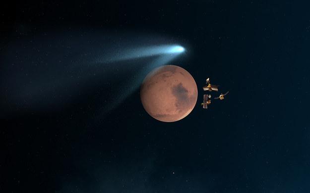 Artystyczna wizja przelotu komety. /NASA
