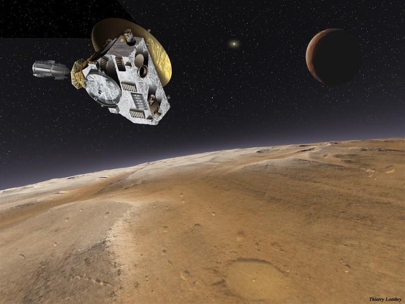 Artystyczna wizja przelotu sondy New Horizons obok Plutona /NASA