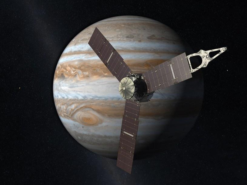 Artystyczna wizja sondy Juno w pobliżu Jowisza /NASA