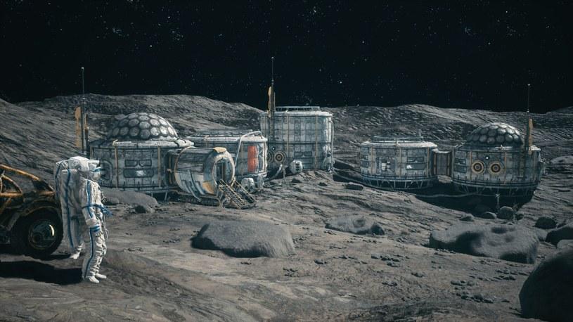 Artystyczna wizja - tak mogłaby wyglądać baza na Księżycu /123RF/PICSEL