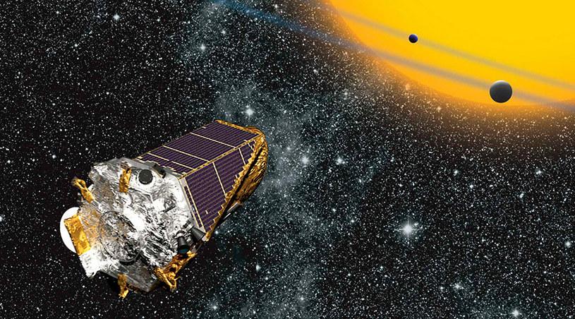 Artystyczna wizja teleskopu Keplera w przestrzeni kosmicznej /materiały prasowe