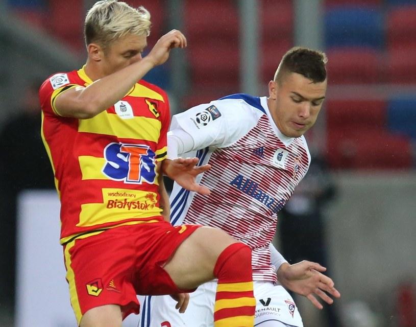 Arvydas Novikovas (z lewej) strzelił jednego gola dla Jagiellonii / Andrzej Grygiel /PAP