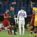 AS Roma - Fiorentina. Czerwona kartka Drągowskiego, VAR dwukrotnie ratuje Romę