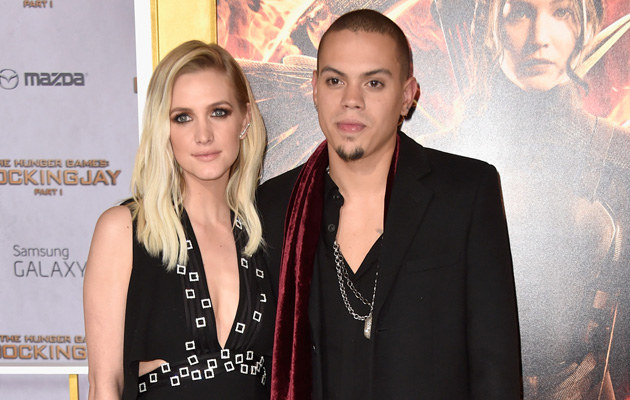 Ashlee Simpson z mężem /Frazer Harrison /Getty Images