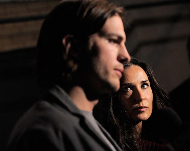 Ashton Kutcher i Demi Moore, fot.Jemal Countess  /Getty Images/Flash Press Media