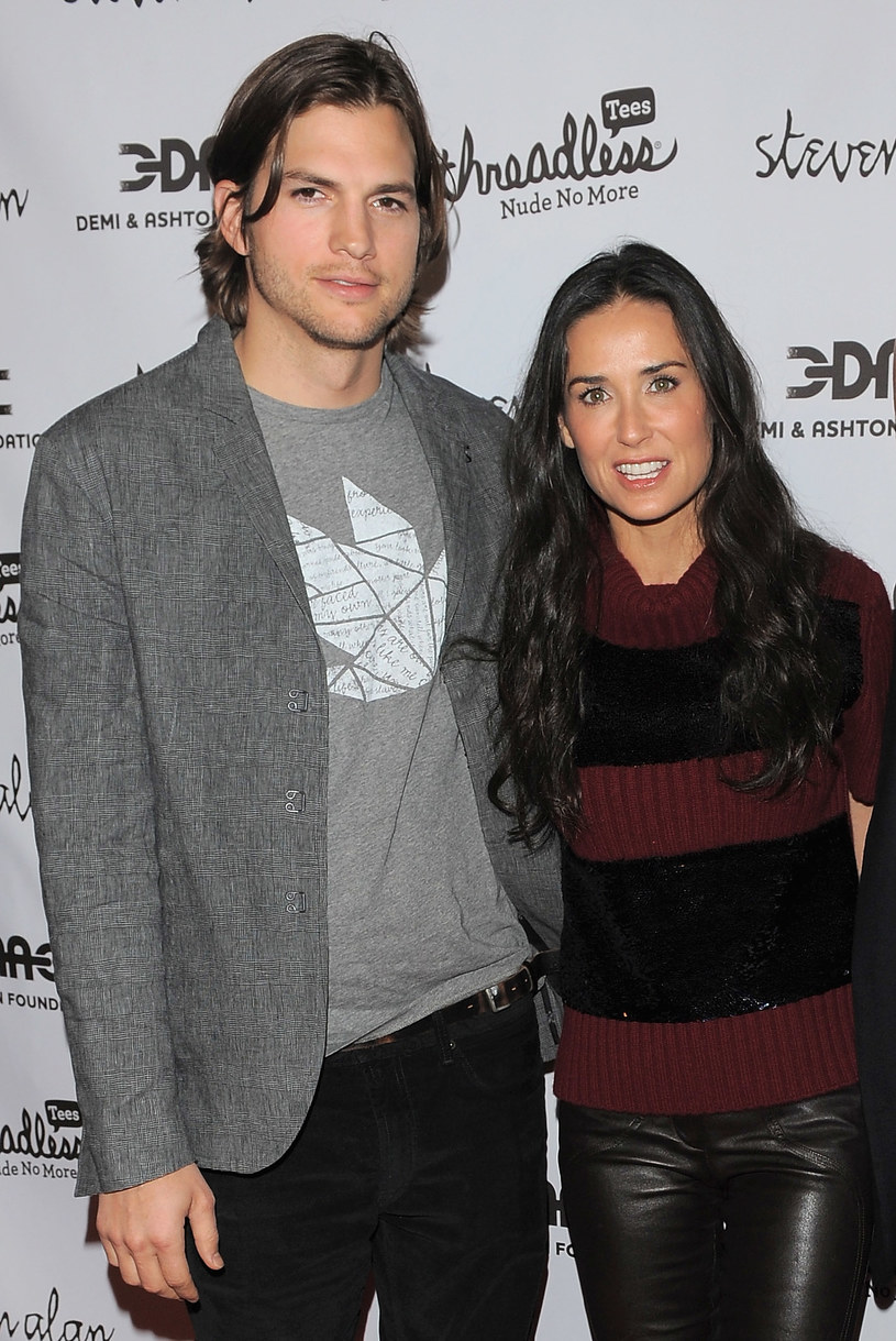 Ashton Kutcher i demi Moore /Jason Merrit /Getty Images