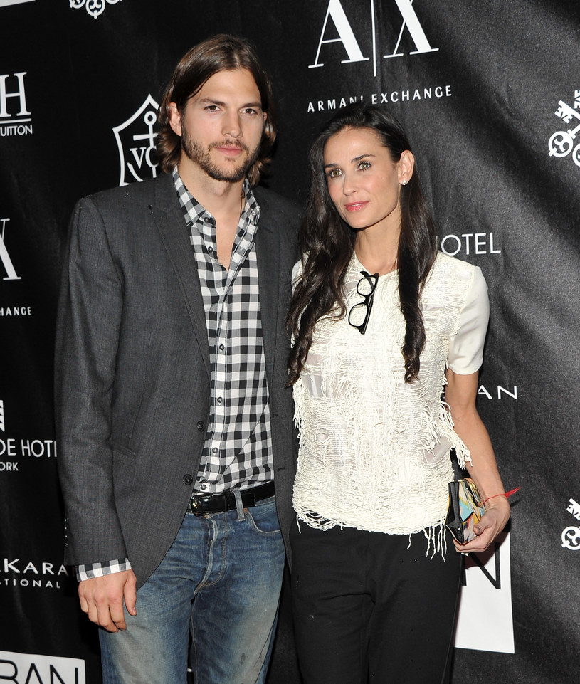 Ashton Kutcher i Demi Moore /Stephen Lovekin /Getty Images
