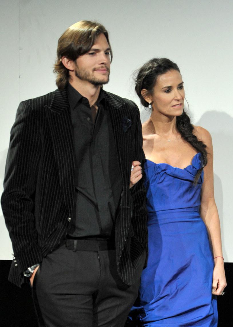 Ashton Kutcher i Demi Moore /Alberto E. Rodriguez /Getty Images