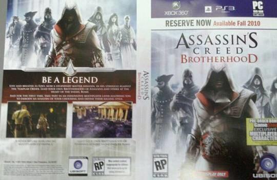 Assassin's Creed: Btotherhood - zdjęcie przedpremierowej okładki /CDA