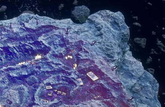 Asteroida, którą gracze będą eksplorować w grze /materiały prasowe