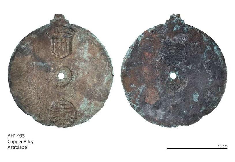 Astrolabium znalezione we wraku Esmeraldy /materiały prasowe