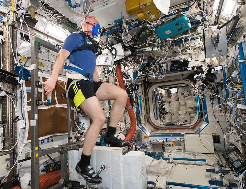 Astronauci nie przestają ćwiczyć nawet w kosmosie /NASA