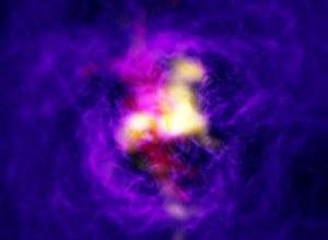 Astronomowie znaleźli galaktyczną fontannę