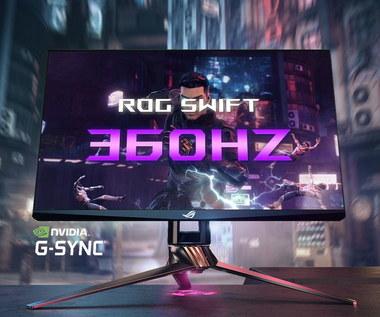 ASUS i NVIDIA zapowiadają pierwszy na świecie monitor o odświeżaniu 360 Hz
