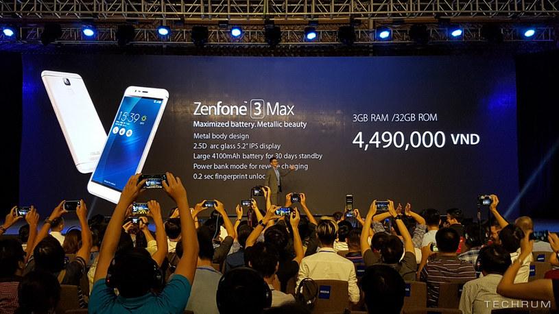 Asus Zenfone 3 Max jest najmniejszym telefonem z serii Zenfone 3 /Techrum /Internet