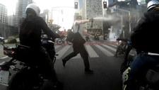 Atak gazem na motocyklistów. Bo byli za głośni!