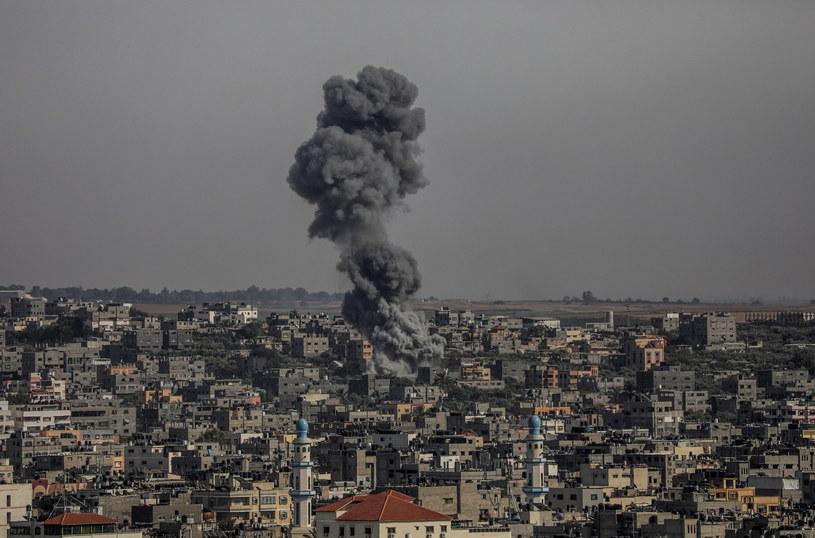 Atak Izraela w Strefie Gazy /PAP/EPA