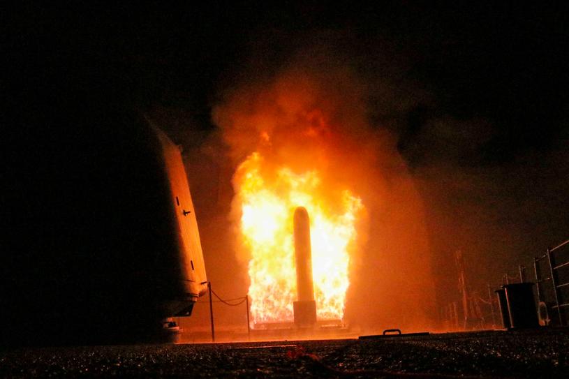 Atak na cele w Syrii /Matthew Daniels/Handout via REUTERS /FORUM