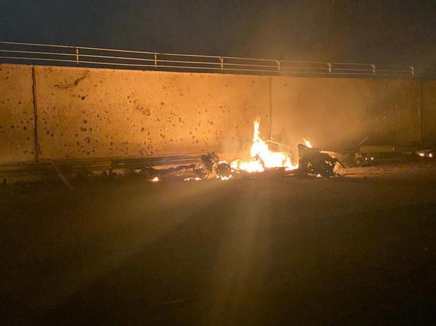 Atak na irańskiego generała w pobliżu Bagdadu /IRAQ'S SECURITY MEDIA CELL HANDOUT /PAP/EPA