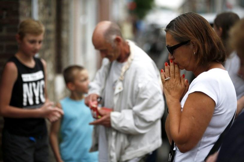 Atak na kościół w Normandii. /PAP/EPA