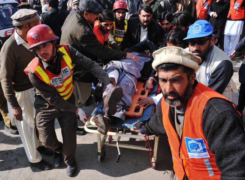 Atak na uniwersytet w mieście Charsadda w Pakistanie /HASHAM AHMED /AFP