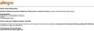 Atak na użytkowników Allegro.pl i Booking.com był próbą wyłudzenia danych