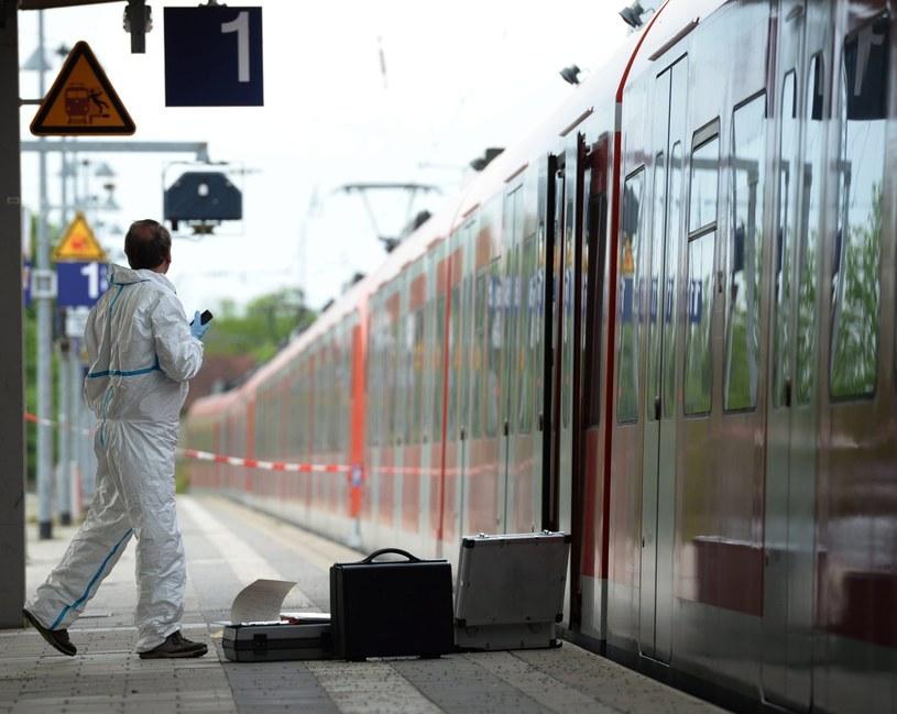 Atak nożownika na dworcu w pobliżu Monachium /EPA/Andreas Gebert  /PAP/EPA