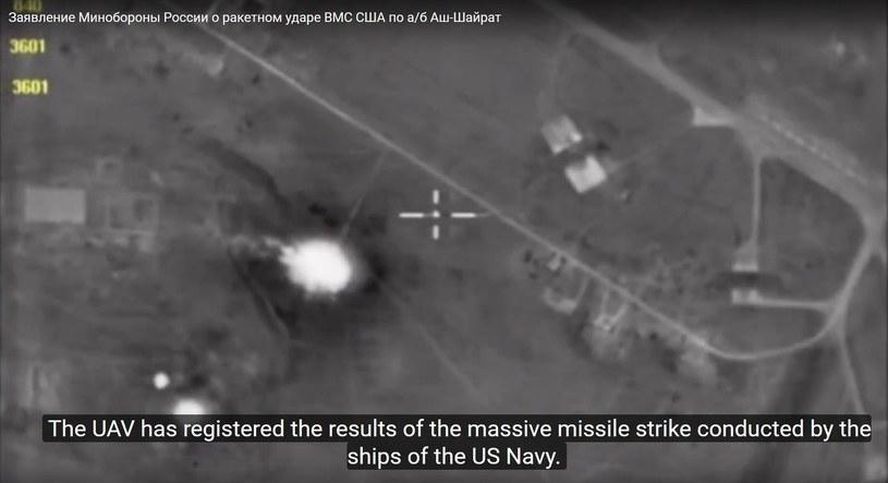 Atak przeprowadzono z dwóch amerykańskich niszczycieli znajdujących się na Morzu Śródziemnym /PAP/EPA