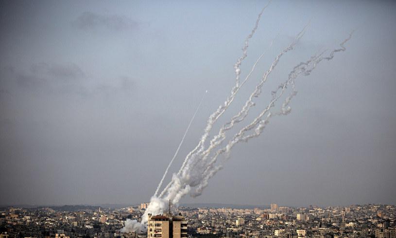 Atak rakietowy na Jerozolimę /MOHAMMED ABED /East News