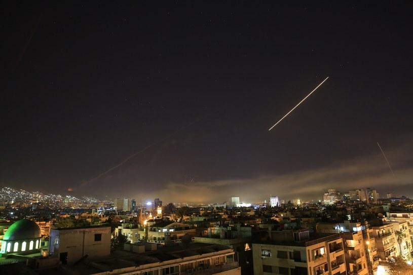 Atak USA, Wielkiej Brytani i Francji na Syrię; Damaszek 14 wietnia 2018 /AP Photo/Hassan Ammar /East News
