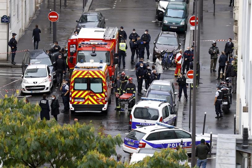 Atak w centrum Paryża /IAN LANGSDON /PAP/EPA