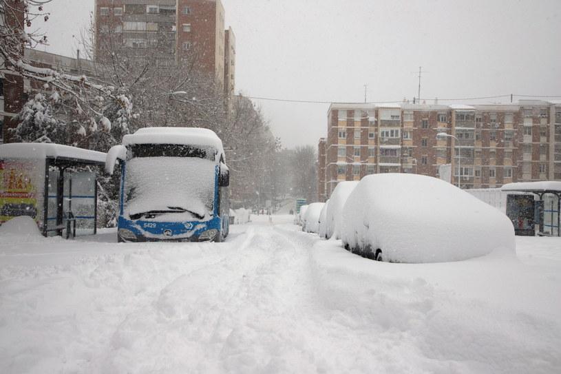 Atak zimy w Madrycie. /Francisco Camino /PAP/EPA
