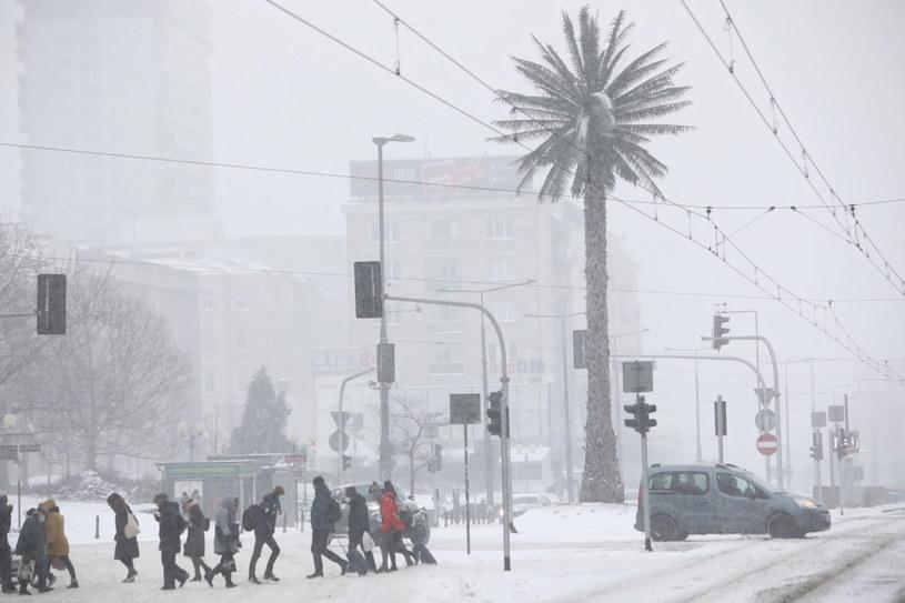 Atak zimy w Warszawie; zdj. z 8 lutego br. / Leszek Szymański    /PAP