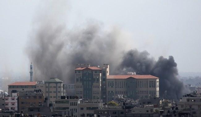 Ataki w Strefie Gazy /MOHAMMED SABER  /PAP/EPA