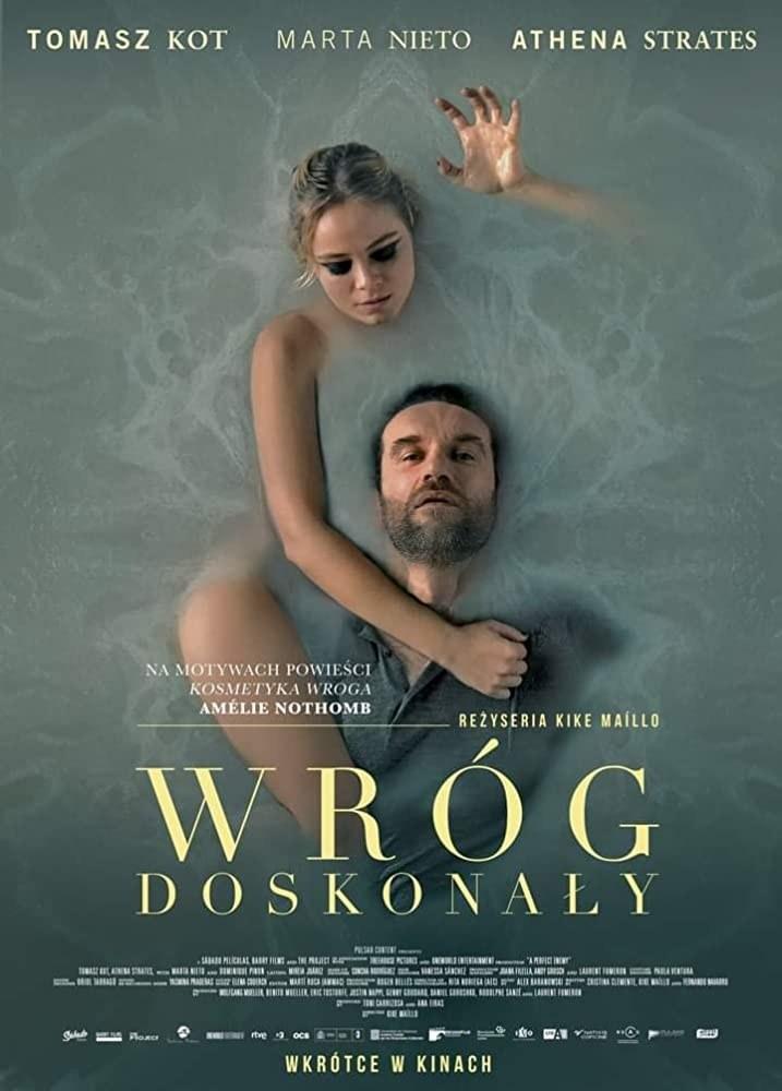 """Athena Strates i Tomasz Kot na plakacie filmu """"Wróg doskonały"""" /materiały prasowe"""