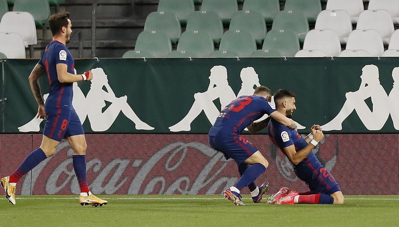 Atletico prowadziło już od  5. minuty po golu Yannicka Carrasco /PAP