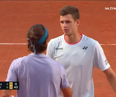 ATP w Rzymie. Hubert Hurkacz - Lorenzo Musetti. Polak poddał mecz (POLSAT SPORT). Wideo