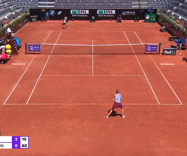 ATP w Rzymie. Magda Linette przegrała z Petrą Kvitovą. Wideo
