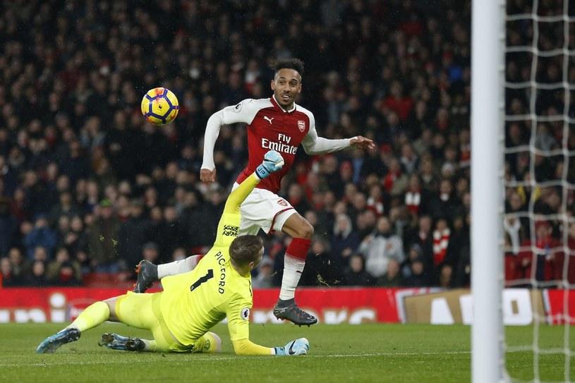 Aubameyang stzrela swojego pierwszego gola w barwach Arsenalu /PAP/EPA