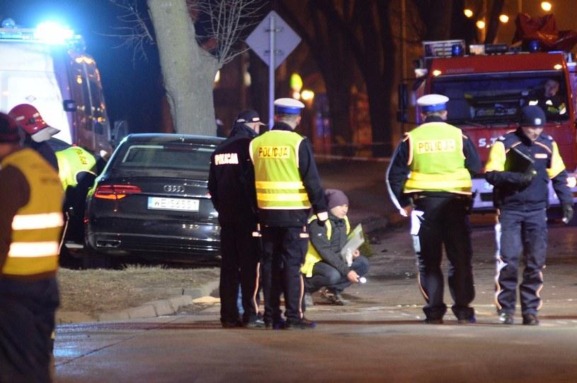 Audi A8L Security rozbite przez SOP /Łukasz Kalinowski /Agencja SE/East News