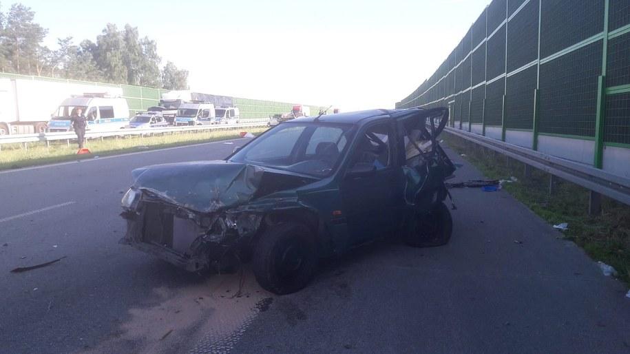 Audi, którym jechali poszukiwani /Policja