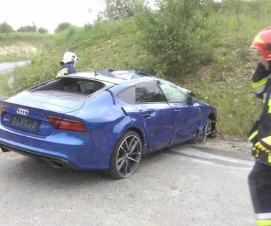 Audi RS7 Performance rozbite pod Paczółtowicami